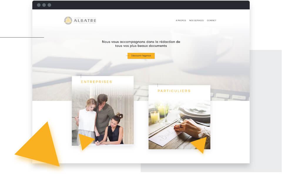 interface site web