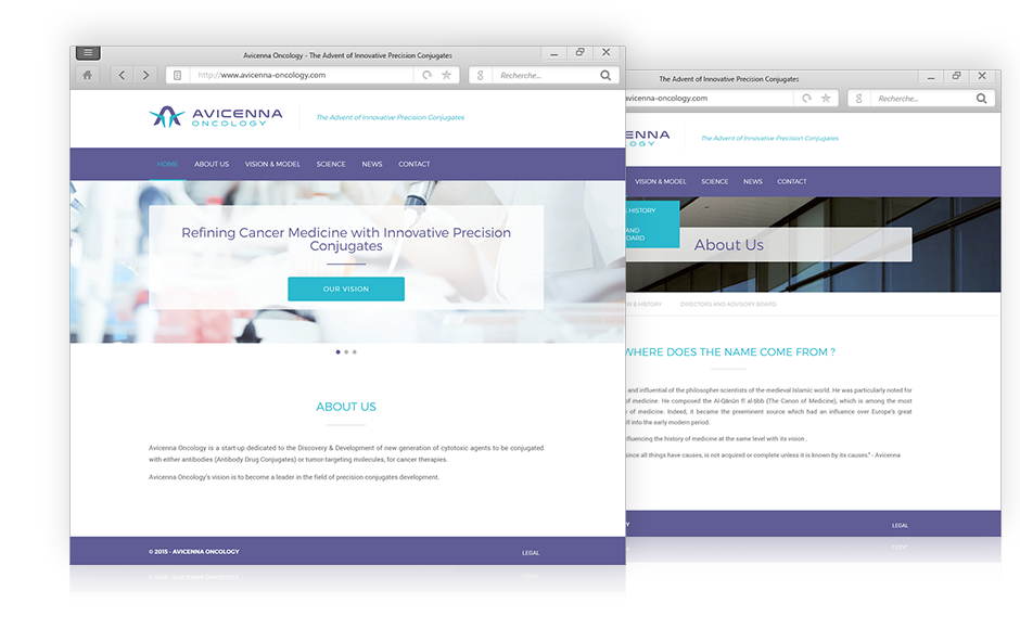 creation site Internet Avicenna Oncology