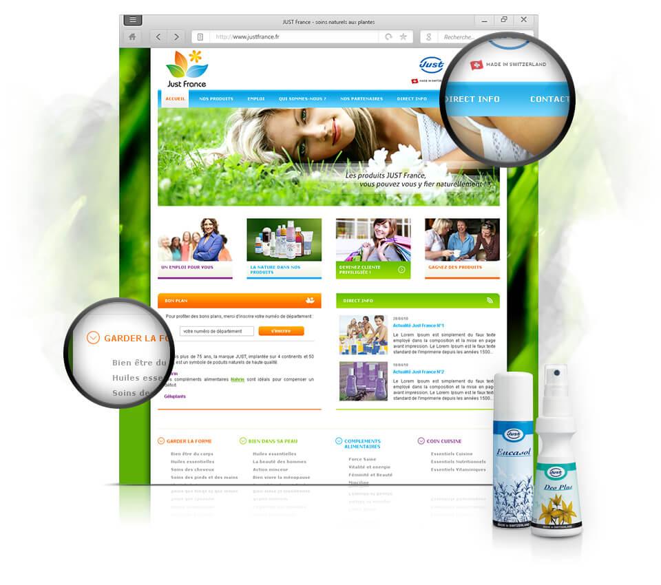 web design page d'accueil