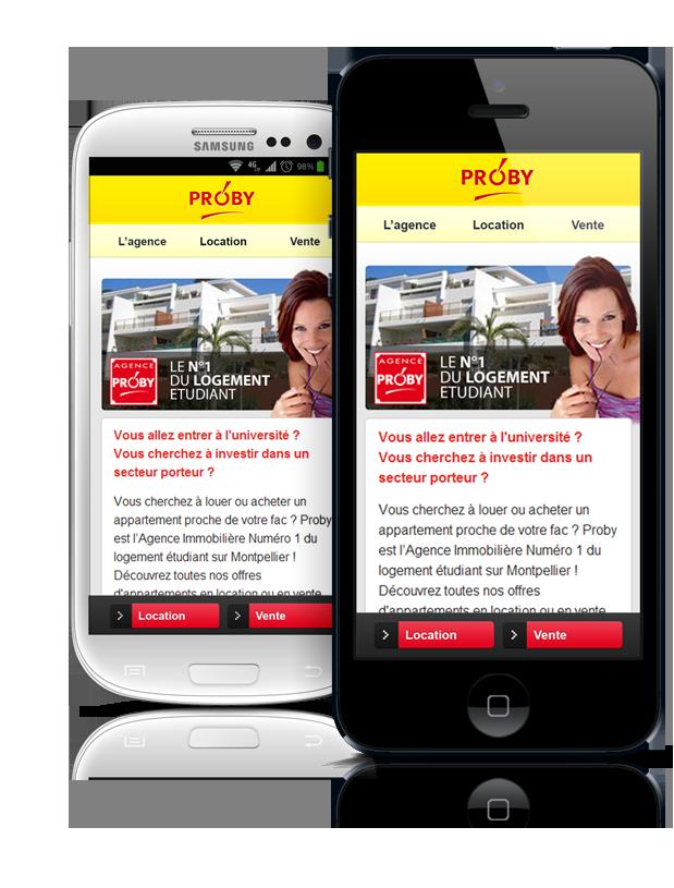 web design site mobile